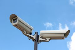 Two security cameras Royalty Free Stock Photo