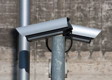 Two security cameras Stock Photography