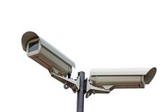 Two security cameras camera Royalty Free Stock Images