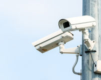 Two Security Cameras, CCTV Camera. Close-up Stock Photo