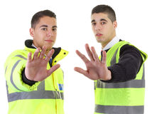Two security guards Royalty Free Stock Image