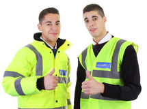 Two security guards thumbs up Royalty Free Stock Images