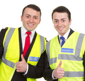 Two security guards together Stock Photos