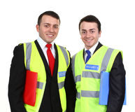 Two security men Stock Photo