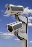 Two security surveillance cameras Stock Photo