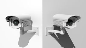 Two security surveillance cameras Royalty Free Stock Images