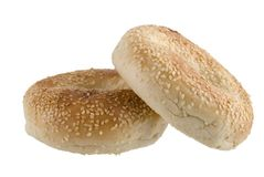 Two Seeded Bagels Stock Image