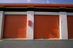 Two Self Storage Units stock images