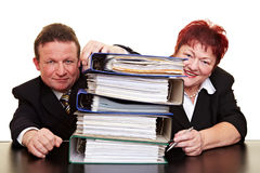 Two senior business people Stock Photo