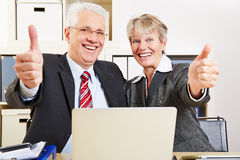 Two senior business people Royalty Free Stock Photography