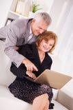 Two Senior businessman Stock Photo