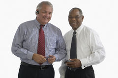 Two senior businessmen Stock Photo