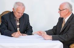 Two senior businessmen Royalty Free Stock Photography