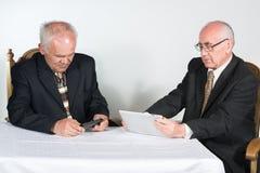 Two senior businessmen Royalty Free Stock Photo