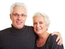 Two senior citizens Stock Images