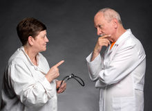 Two senior doctors Stock Photography