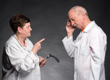 Two senior doctors Royalty Free Stock Photos
