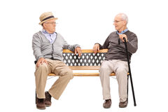 Two senior men arguing with each other Stock Photography
