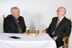 Two senior men Royalty Free Stock Image