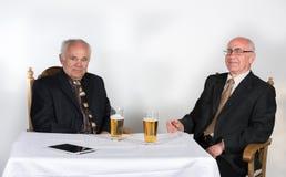 Two senior men Stock Image