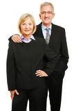 Two senior people as business team. Two happy old senior people as business team Stock Image