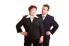 Two senior people in business suits Royalty Free Stock Image
