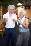 Two senior people in gym Royalty Free Stock Photography