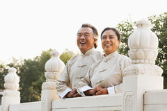 Two senior Taijiquan practitioners in Beijing Royalty Free Stock Images