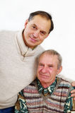 Two seniors. Royalty Free Stock Images