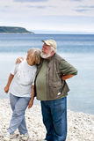 Two Seniors on the beach Royalty Free Stock Image