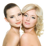 Two sensuality women standing together Royalty Free Stock Images