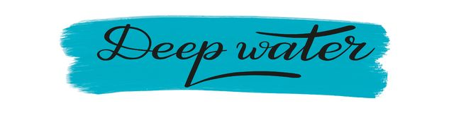 Deep water. Romantic brush pen lettering. Vector. stock illustration