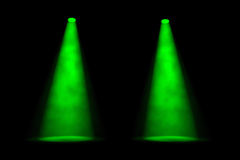 Two Separated Green Spotlights Royalty Free Stock Photography
