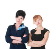 Two serious business women Stock Image