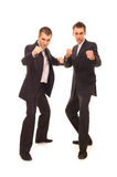Two serious businessmen Stock Photo