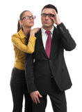 Two serious businesspeople Stock Images