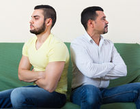 Two serious men after conflict Royalty Free Stock Photos
