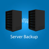 Two server backup redundancy mirror for recovery and performance Stock Photography