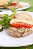 Two Servings Of Chicken Breast Royalty Free Stock Photo