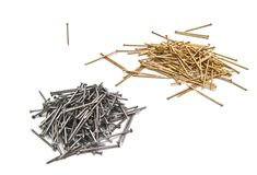 Two set of nails on white Stock Photography