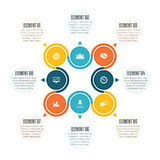 Two Sets of Four Infographic Stock Photo