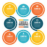 Two Sets of Four Infographic Royalty Free Stock Image