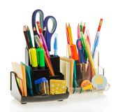 Two sets of office accessories Royalty Free Stock Image