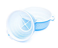 Two sets of plastic basket with tub Royalty Free Stock Photos