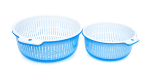 Two sets of plastic basket with tub Royalty Free Stock Photography
