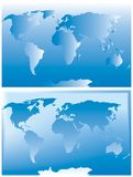 Two sets of world map Stock Image