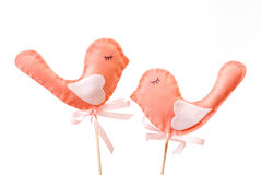Two sewing birds Royalty Free Stock Photo