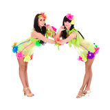 Two sexy dancer women Royalty Free Stock Images