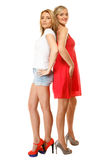 Two sexy fashion women in summer clothes Royalty Free Stock Photo