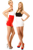 Two sexy fashion women in summer clothes Stock Image